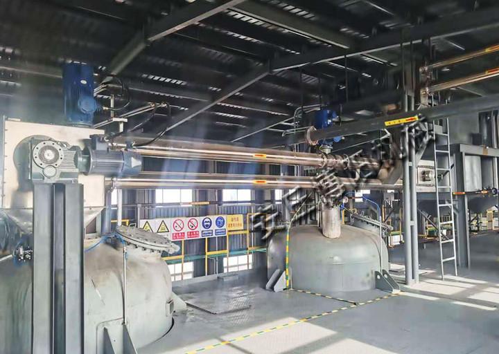 氨基蒽醌管链式输送机使用现场