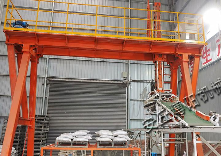 袋装石粉桁架式自动装车机使用现场